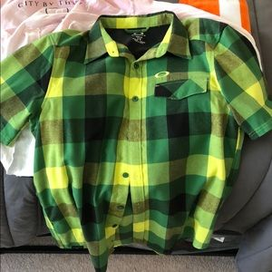 """Oakley"" Brand, Short-Sleeve Flannel"